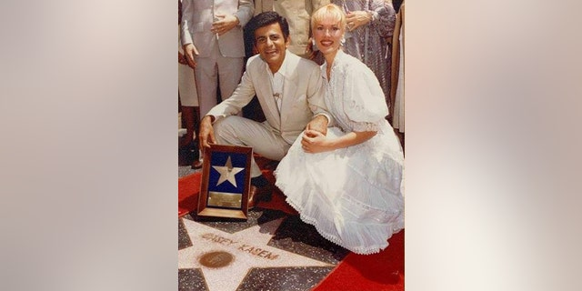 Casey Kasem with Jean Kasem at the Hollywood Star Walk of Fame ceremony in 1981. — Courtesy of Jean Kasem