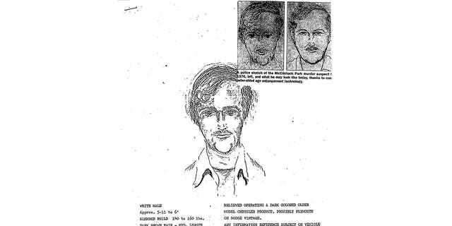 This 1976 police sketch is the initial drawing of a suspect shortly after the 1976 murders of David Schuldes and Ellen Matheys. (Marinette County Sheriff via AP)