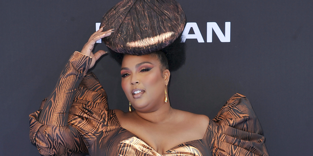 Lizzo arrives at the BET Awards on Sunday, June 23, 2019, at the Microsoft Theater in Los Angeles.