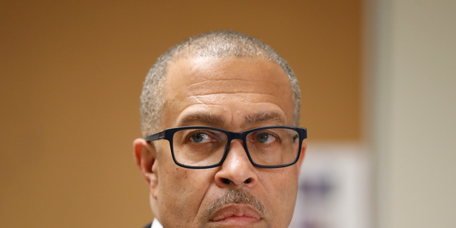 In this Oct. 19, 2018 file photo, Detroit Police Chief James Craig addresses reporters in Detroit.