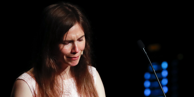 Westlake Legal Group ContentBroker_contentid-d509316f0e4f455cbe9548493a900756 Amanda Knox sobs during speech on return to Italy, accuses media of building false story Lukas Mikelionis fox-news/world/world-regions/italy fox-news/world/world-regions/europe fox-news/world/crime fox news fnc/world fnc article 39c32812-5309-5d38-ad3c-aa3b03ec3f0a