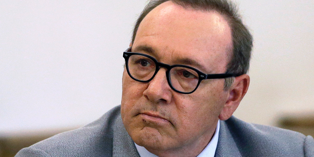 Kevin Spacey attending a pretrial hearing at district court in Nantucket, Mass., earlier this month. (AP Photo/Steven Senne, File)