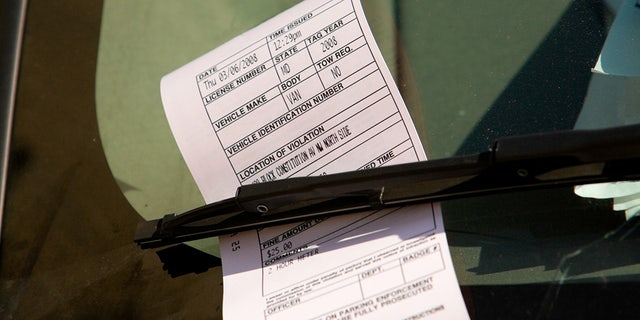 A parking ticket on a car windshield in Washington, D.C. A plan recently introduced in the District of Columbia Council calls for officials to train 80 residents on how they can use their smartphones to take pictures of vehicles illegally parked in locations such as crosswalks, bicycle lanes and in front of hydrants.