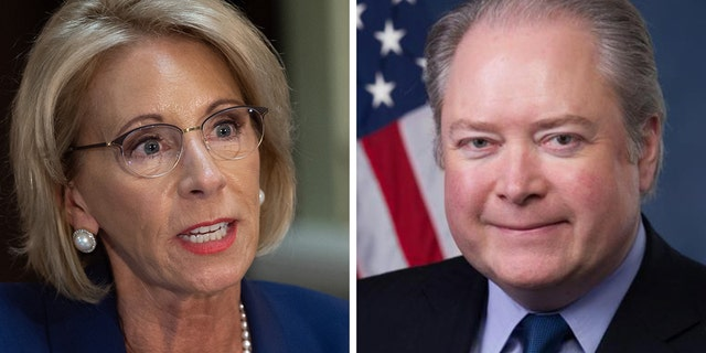 Education Secretary Besty DeVos is investigating the potential bias of a taxpayer-funded college conference after concerns raised by Republican Rep. George Holding of North Carolina. (Getty/George Holding, File)