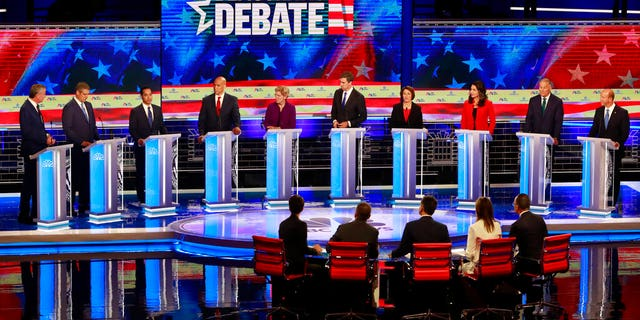 The first Democratic primary debate exceeded viewership expectations despite technical issues. (AP Photo/Wilfredo Lee)