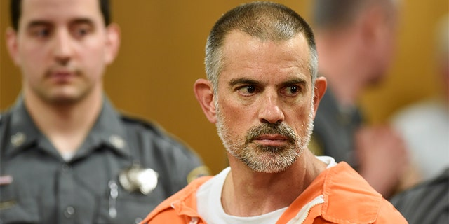 Fotis Dulos is charged on May 3 before the Norwalk Superior Court at Norwalk, Conn, 2019.
