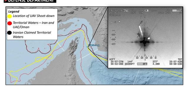Westlake Legal Group FS_rq4_flight_path Pentagon releases map disputing claim US drone violated Iranian airspace; Iran's version is very different Talia Kaplan fox-news/world/world-regions/middle-east fox-news/world/conflicts/iran fox-news/world fox-news/us fox-news/politics/defense/conflicts fox news fnc/world fnc article 70b9c600-3d0b-5659-b5f2-2803706bf92c