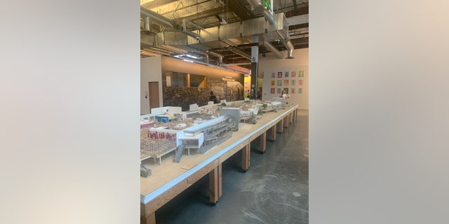 A model of Facebook's sprawling campus at the tech giant's headquarters in Menlo Park, Calif. (Brian Flood, Fox News)