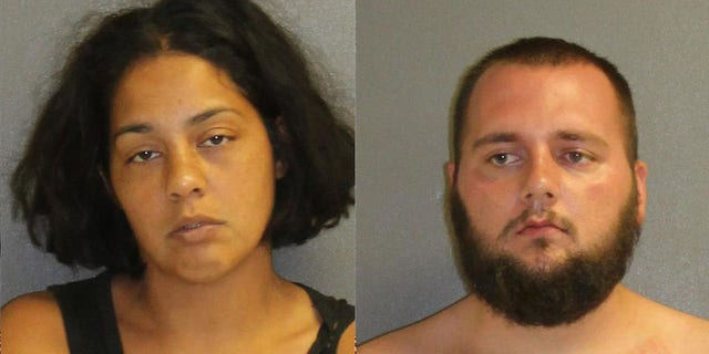Yajaira Tirado, 28, and Jacob Krueger, 25, were arrested on child neglect charges on Monday after their toddler was discovered on the side of a highway in Florida.