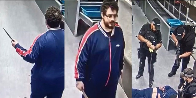 Police say that the man, pictured, was not a traveler and that they do not believe the incident was terrorism-related.