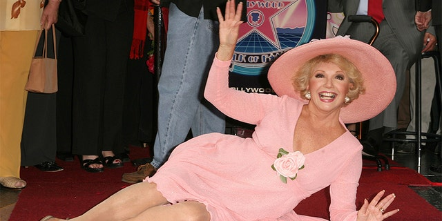 Ruta Lee being honored with a star on the Hollywood Walk of Fame at Hollywood Boulevard in Hollywood, Calif. in 2006. (Photo by Jason Merritt/FilmMagic)