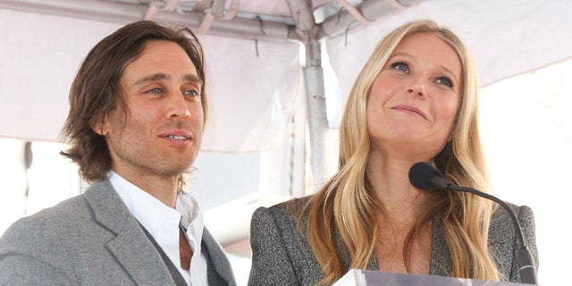 FILE - Brad Falchuk and Gwyneth Paltrow attend the ceremony honoring Ryan Murphy with a star on The Hollywood Walk Of Fame on December 04, 2018 in Hollywood, California. (Photo by Paul Archuleta/FilmMagic)