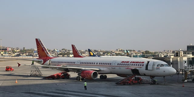 Air India airplanes at Chhatrapati Shivaji Maharaj International Airport in Mumbai, Maharashtra, India. (Photo by Creative Touch Imaging Ltd./NurPhoto via Getty Images)