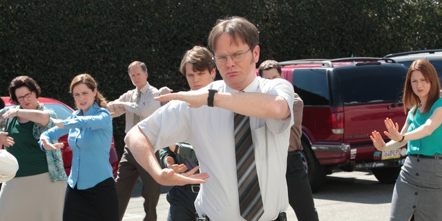 "Rainn Wilson played Dwight Schrute on NBC's ""The Office."""