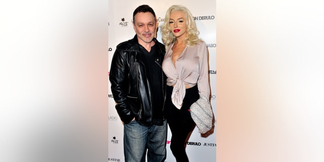 Doug Hutchison and Courtney Stodden in Hollywood in 2015.