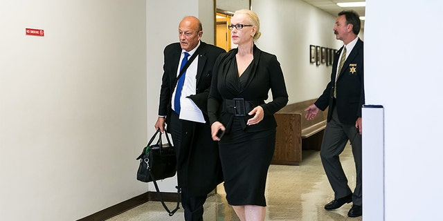 Jean Kasem, the then-wife of Casey Kasem, makes a court-ordered appearance regarding an ongoing dispute with stepdaughter Kerri Kasem May 30, 2014 in Port Orchard, Washington. (Photo by Suzi Pratt/Getty Images)