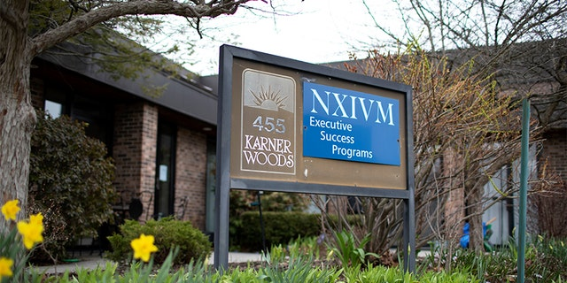 The NXIVM Executive Success Programs sign outside of the office at 455 New Karner Road on April 26, 2018, in Albany, N.Y. (Photo by Amy Luke/Getty Images)