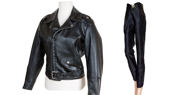 276c0b06561 Olivia Newton-John's iconic leather jacket, pants from 'Grease' to ...
