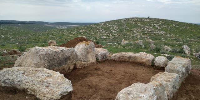 The remains of the ancient watchtower. (Israel Antiquities Authority)