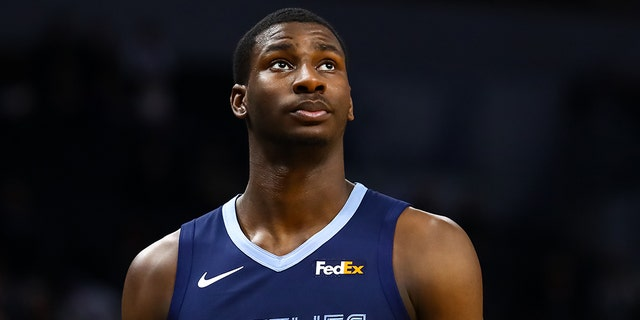 Jaren Jackson Jr. #13 of the Memphis Grizzlies looks on after getting a technical foul in the second quarter against the Minnesota Timberwolves at Target Center on January 30, 2019 in Minneapolis, Minnesota. (Photo by David Berding/Getty Images)