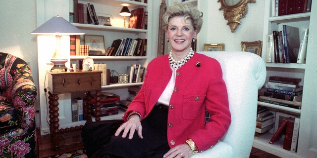FILE - Judith Krantz in her Bel Air home. (Deidre Hamill/AP Photo, File)
