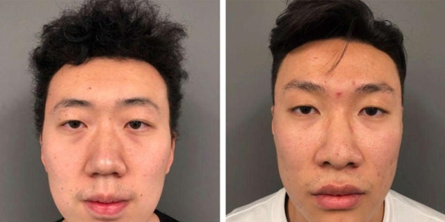 Chunyang Li, left, and Chenghan Wang, right, allegedly used stolen credit cards to pay for their tuition at the University of New Hampshire.