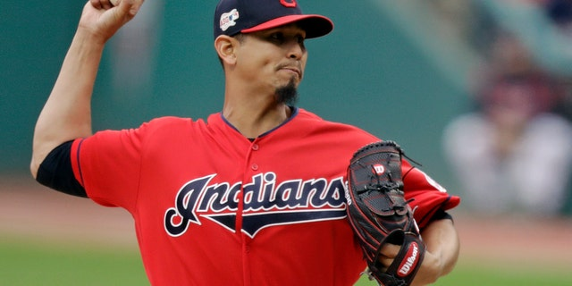 Carlos Carrasco was diagnosed with a blood condition. (AP Photo/Tony Dejak, File)
