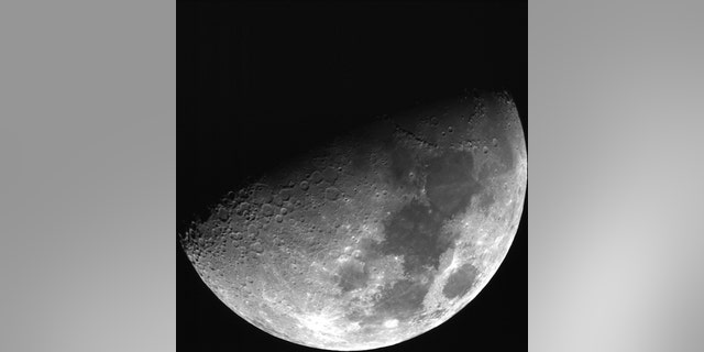 This image of the moon is taken from the new telescope of JMU. (Credit: Universität Würzburg)