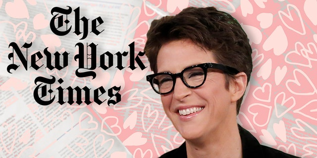 Rachel Maddow has mentioned the New York Times 41 times since May 30, but the love has not been mutual.