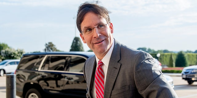 Acting Defense Secretary Mark Esper arriving at the Pentagon on Monday.