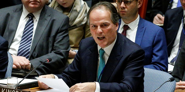 Mark Field, United Kingdom Minister of State for Asia and the Pacific at the Foreign and Commonwealth Office, speaks during the United Nations Security Council meeting on North Korea's nuclear program at U.N. headquarters in New York City, New York, U.S., December 15, 2017. (REUTERS/Brendan McDermid)