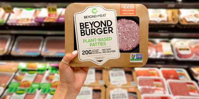 "The new patty has marbling that ""melts and tenderizes just like beef,"" and uses apple extract to help deepen the brown color to better resemble hamburger meat, according to the press release."