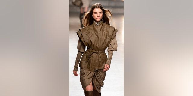 Model Meghan Roche walks the runway during the Isabel Marant show as part of Paris Fashion Week Womenswear Fall/Winter 2019/2020.