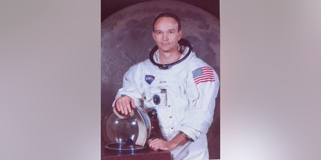 Photo of the Astronaut Michael Collins in his Apollo Suit