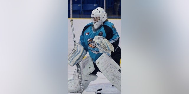 She played goalie for the Bluewater Hawks of the Provincial Women's Hockey League.