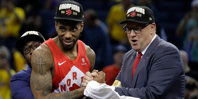 Raptors president 'confident' Leonard will return to champs