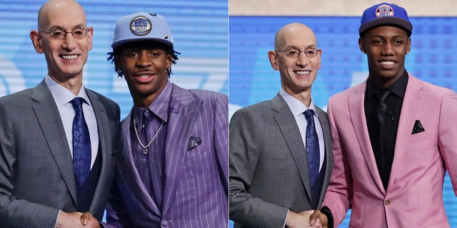 Ja Morant and R.J. Barrett shined in their draft night outfits.