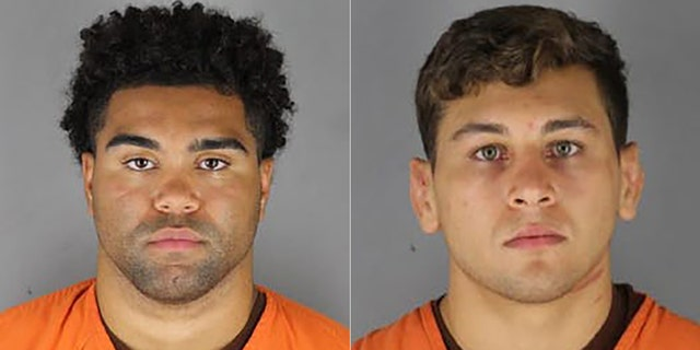 Gable Steveson, left, and Dylan Martinez were arrested on suspicion of criminal sexual conduct.