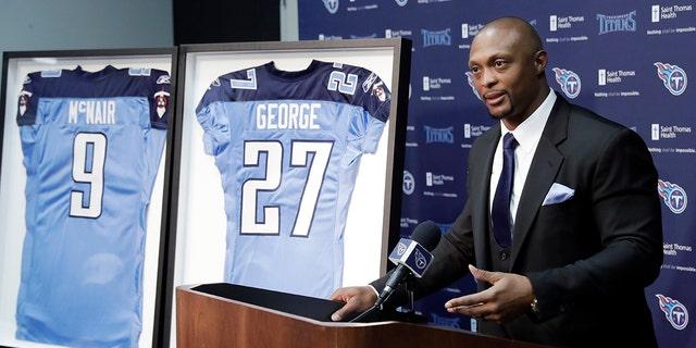 bdfd23e50f1 Titans retiring numbers of Eddie George, late Steve McNair   Fox News