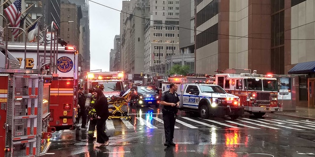 The massive emergency response on Monday after a helicopter crashed on a building in New York City.