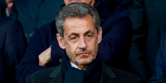 Former French President Nicolas Sarkozy attends a soccer match in Paris last month. (LIONEL BONAVENTURE/AFP/Getty Images)