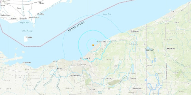 The 4.0-magnitude earthquake was reported north of Eastlake, Ohio at 10:50 a.m., according to the USGS.