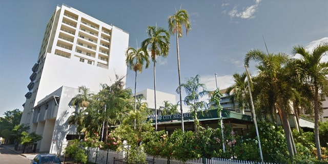 Palms Motel on Darwin's Esplanade was said to be one of the crime scenes police responded to.