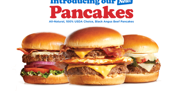 """IHOP is now debuting three new choice Black Angus burgers they're calling """"pancakes,"""" including the Garlic Butter """"Pancake,"""" the Loaded Philly """"Pancake"""" and the Big IHOP """"Pancake,"""" which itself contains an actual pancake."""