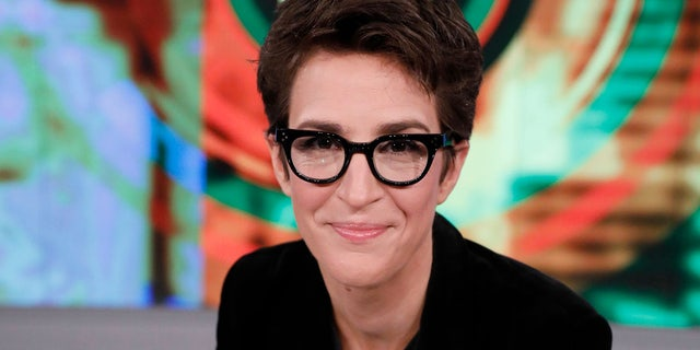 MSNBC's Rachel Maddow has urged television networks not to air White House briefings on the coronavirus pandemic. (Photo by Heidi Gutman via Getty Images)
