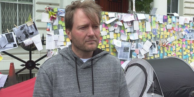Richard Ratcliffe has been on a hunger strike for 12 days. Camped outside the Iranian Embassy in London, his message is simple: His wife, Nazanin Zaghari-Ratcliffe, must be freed.