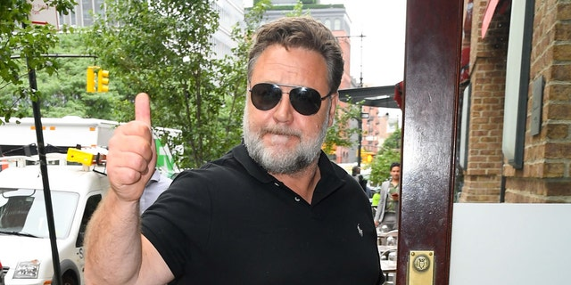 Russell Crowe is seen in Tribeca on June 19, 2019 in New York City.