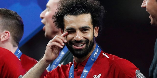 A study suggested Mo Salah's popularity reduced hate crime in and around Liverpool. (AP Photo/Bernat Armangue)
