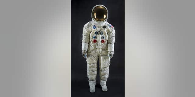Neil Armstrong's Apollo 11 spacesuit. (Smithsonian National Air and Space Museum)
