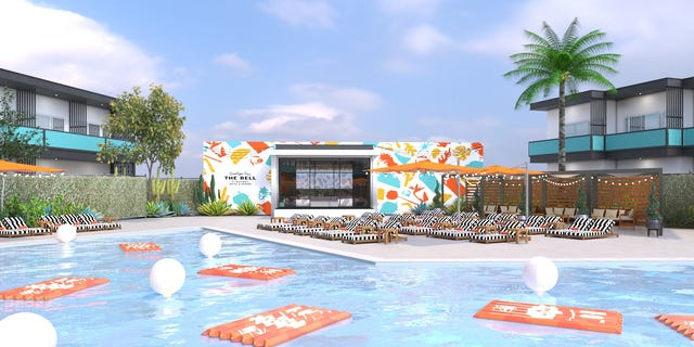 """Guests will have the option to attend events like """"dive-in"""" movies or visit the Mountain Dew-inspired """"Freeze Lounge."""""""